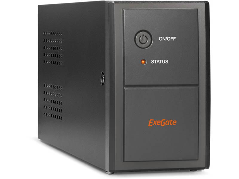 Источник бесперебойного питания ExeGate Power Back BNB-850.LED.AVR.Euro.RJ.USB EP285474RUS