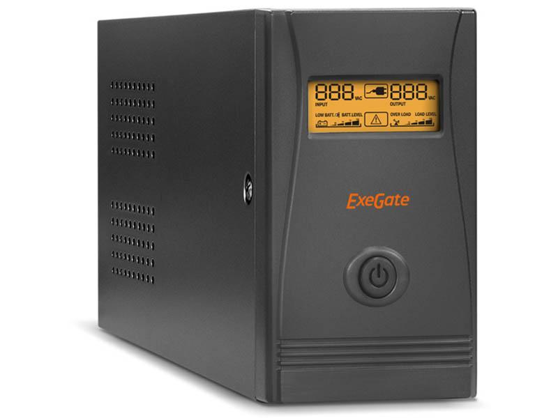 Источник бесперебойного питания ExeGate Power Smart ULB-650.LCD.AVR.Euro.RJ.USB EP285561RUS