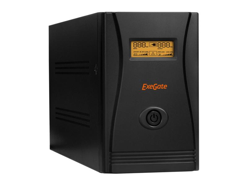 Источник бесперебойного питания ExeGate SpecialPro Smart LLB-600.LCD.AVR.Euro.RJ.USB EP285580RUS
