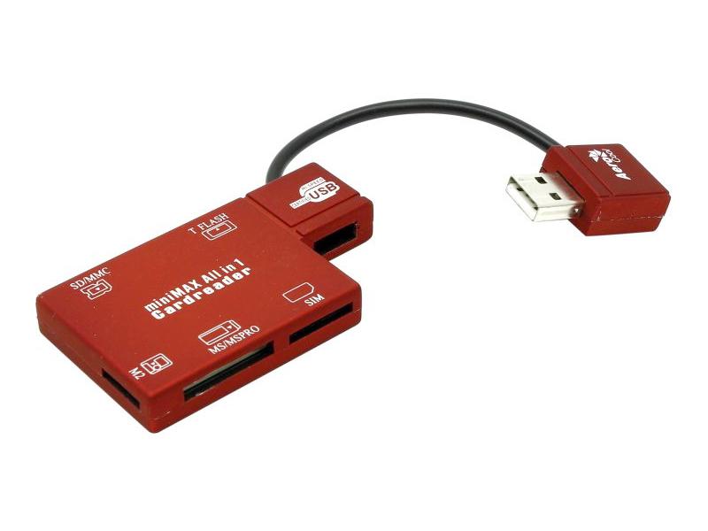 Карт-ридер AeroCool 49 in 1 SD/MMC/M2/MS/MS Pro/T-F/SIM АТ-819