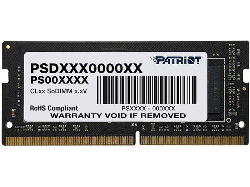 Модуль памяти Patriot Memory Signature DDR4 SO-DIMM 2400MHz PC19200 CL17 - 16Gb PSD416G240081S