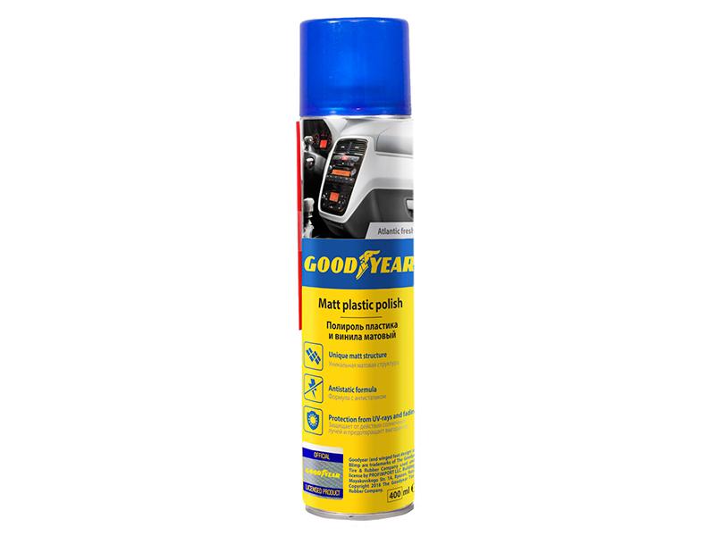 Полироль пластика Goodyear 400ml Атлантическая свежесть, аэрозоль GY000704