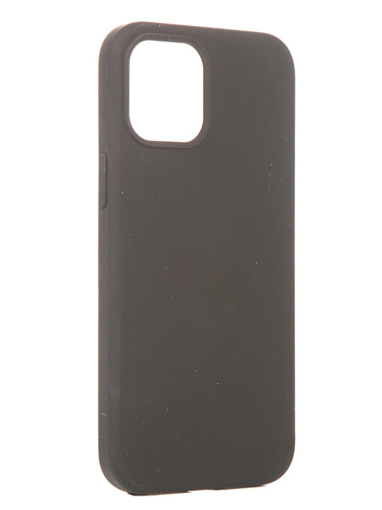 Чехол Innovation для APPLE iPhone 12 Pro Max Silicone Soft Inside Black 18029 чехол innovation для apple iphone 12 pro 12 plus silicone soft inside black 18019