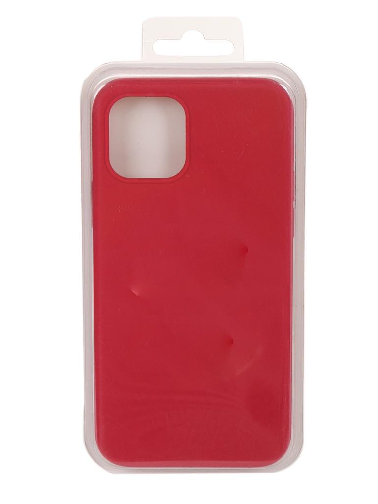 Чехол Innovation для APPLE iPhone 12 Pro / Plus Silicone Сrimson 18024