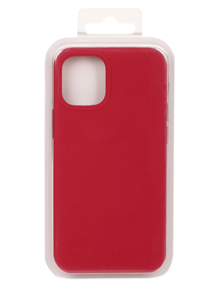 Чехол Innovation для APPLE iPhone 12 Silicone Case Сrimson 18014