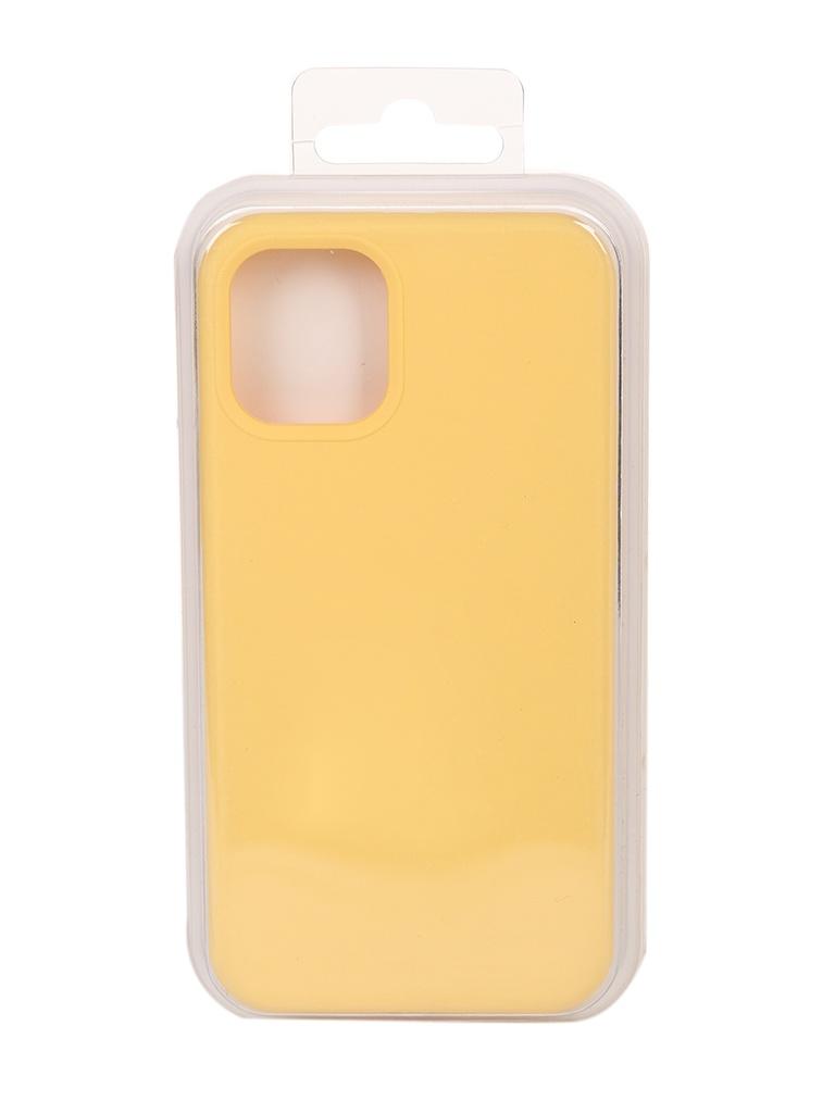 Чехол Innovation для APPLE iPhone 12 Silicone Soft Inside Yellow 18013