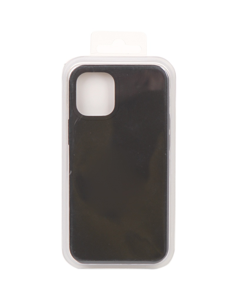 Чехол Innovation для APPLE iPhone 12 Silicone Soft Inside Black 18009