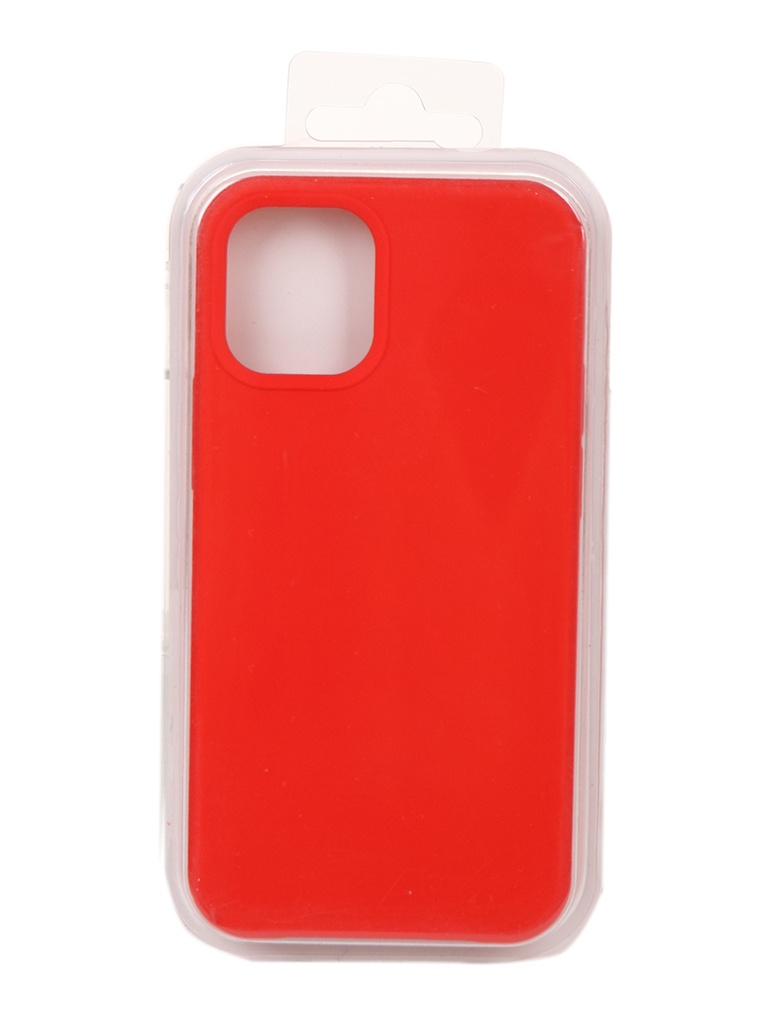 Чехол Innovation для APPLE iPhone 12 Silicone Soft Inside Red 18007
