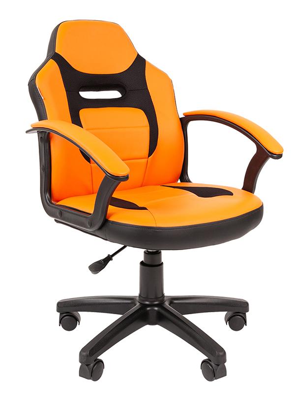 Компьютерное кресло Chairman Kids 110 Экопремиум Black-Orange 7049365
