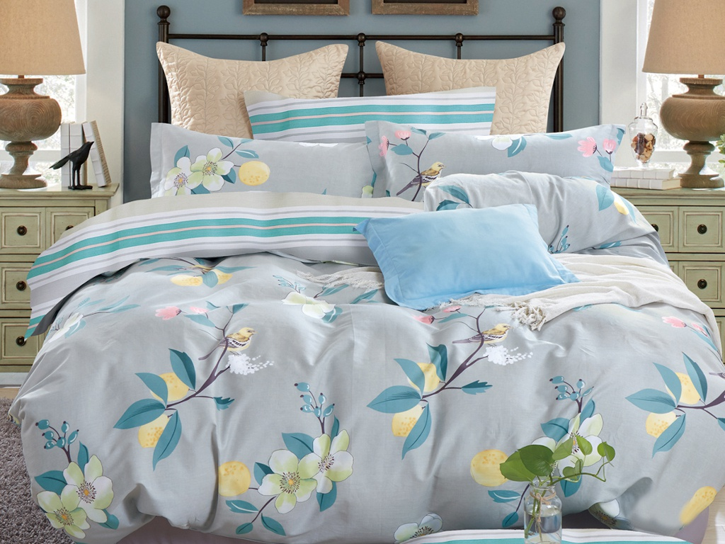 Постельное белье Cleo Satin de Lux 15/664-SK Комплект 1.5-спальный Сатин постельное белье cleo satin lux 15 321 sl комплект 1 5 спальный сатин