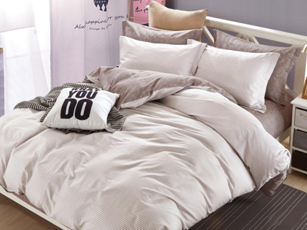 Постельное белье Cleo Satin de Lux 15/555-SK Комплект 1.5-спальный Сатин