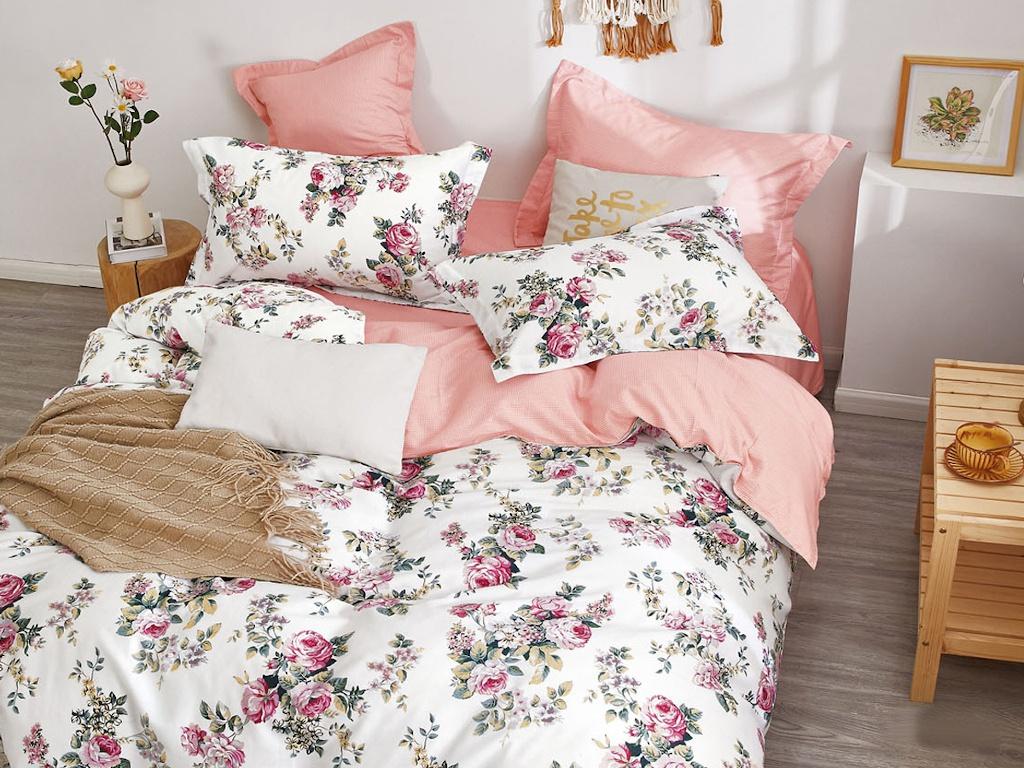 Постельное белье Cleo Satin de Lux 15/675-SK Комплект 1.5-спальный Сатин
