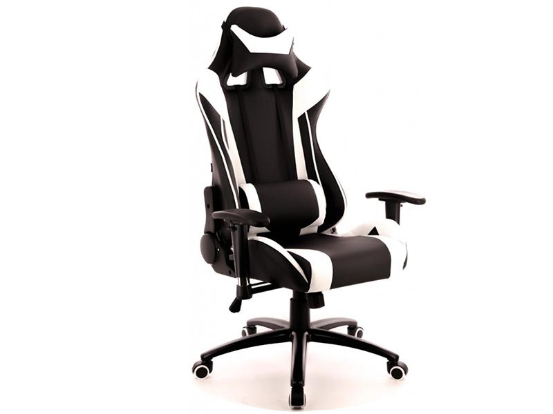 Компьютерное кресло Everprof Lotus S6 экокожа Black-White Выгодный набор + серт. 200Р!!!