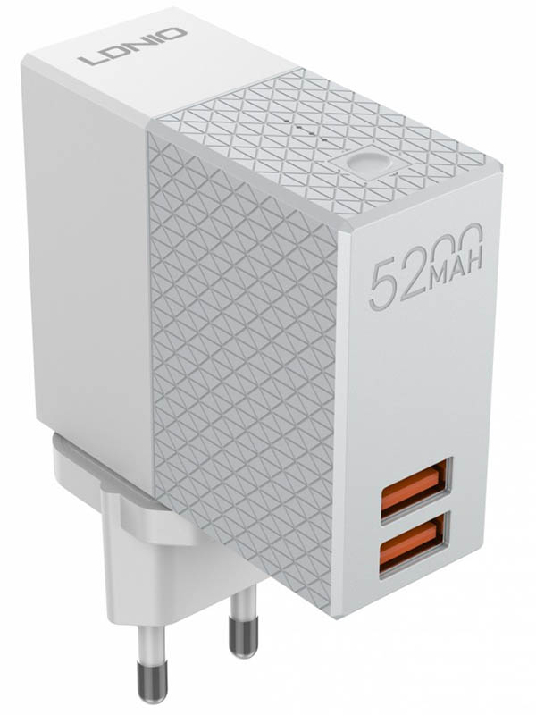 Зарядное устройство Ldnio PA606 + Power Bank 5200mAh 2xUSB 2.1A 10.5W LD_B4339