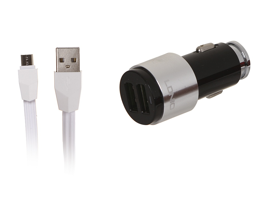 Зарядное устройство Ldnio C403 2xUSB + MicroUSB 4.2A Black-Silver LD_B4422
