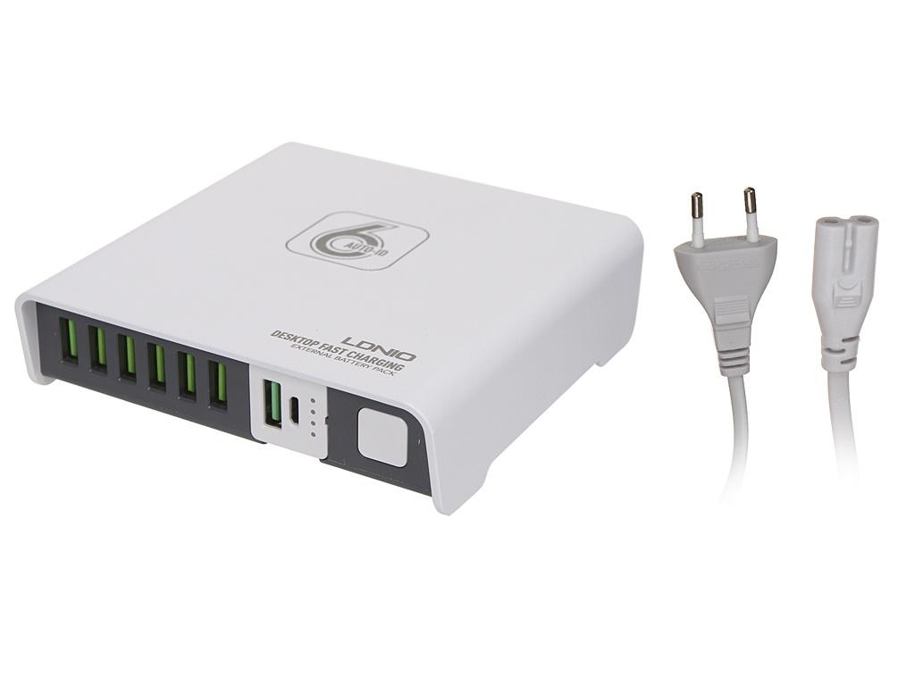 Зарядное устройство Ldnio A6802 6xUSB + Power Bank 2600mAh 40W White LD_B4354