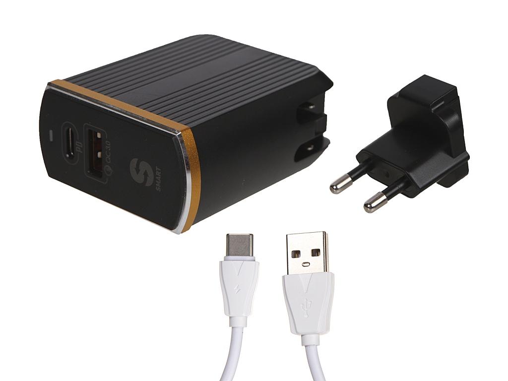 Зарядное устройство Ldnio A2502C 2xUSB + Type-C PD QC 3.0 36W Black LD_B4357