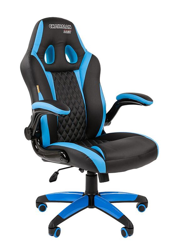Компьютерное кресло Chairman Game 15 Black-Light-Blue