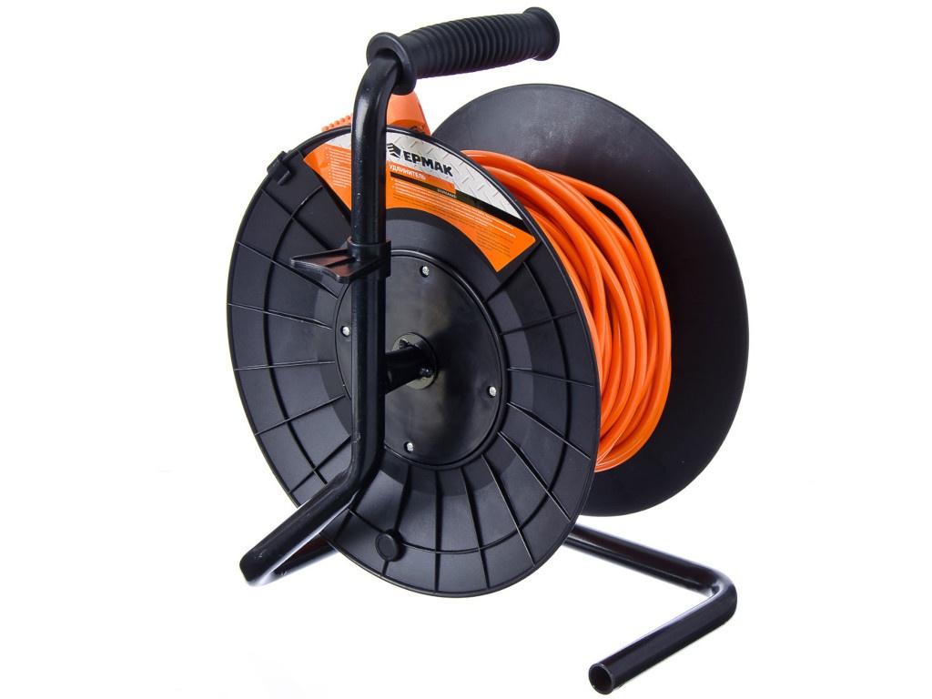 Удлинитель на катушке с заземлением Ермак 4 Sockets 25m 636-044 carbon brushes compatible fein msf 636 msh 636 [misc ]