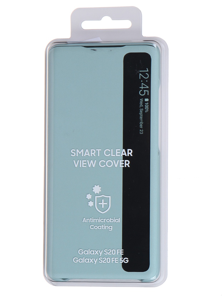 Чехол для Samsung Galaxy S20 FE Smart Clear View Cover Mint EF-ZG780CMEGRU