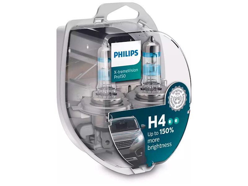 Лампа Philips X-treme Vision Pro150 H4 12V 60/55W P43t 2шт 12342XVPS2