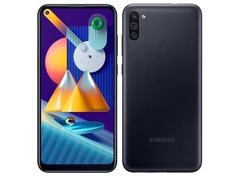 Сотовый телефон Samsung SM-M115F Galaxy M11 3Gb/32Gb Black Выгодный набор + серт. 200Р!!! сотовый