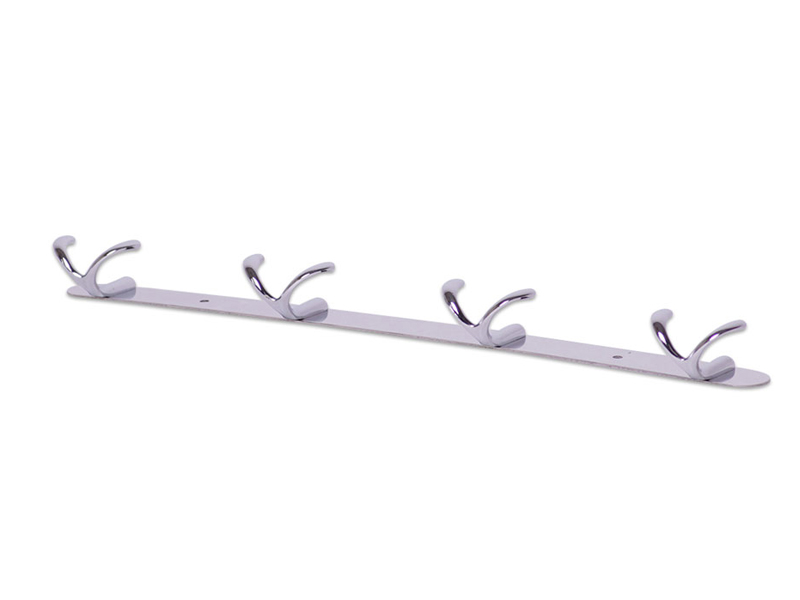 Крючки Besser 42x3.5x4.5cm двойные на планке 4шт Chromed Zinc Alloy 8224