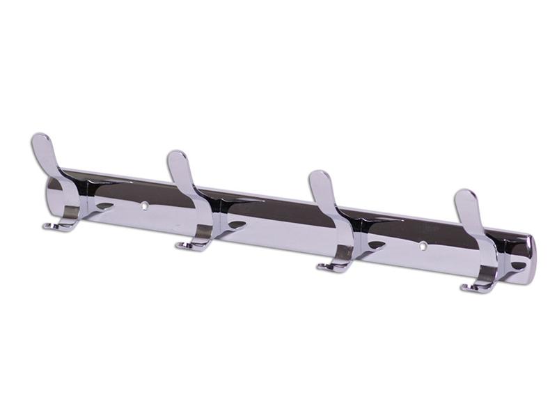 Крючки Besser 35.5x5.5x6.5cm двойные на планке 4шт Chromed Zinc Alloy 8214