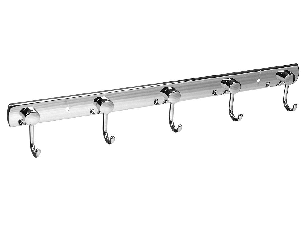 Крючки Besser 45.5x4x6.5cm двойные на планке 5шт Chromed Zinc Alloy 8205
