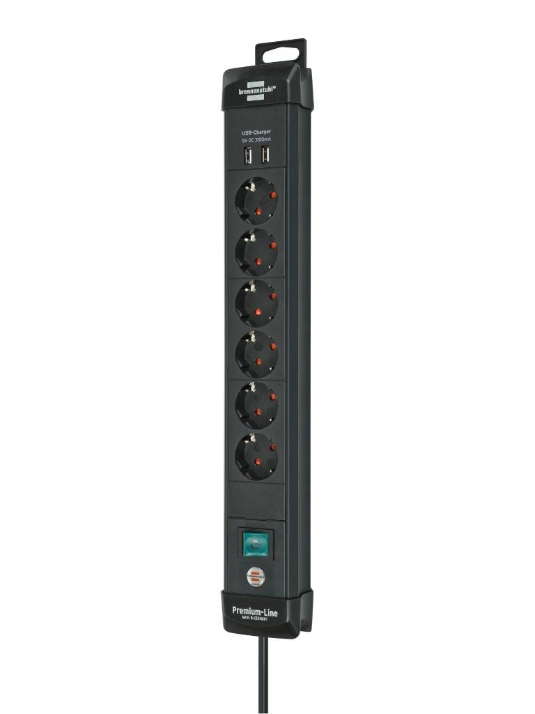 Удлинитель Brennenstuhl Premium-Line 6 Sockets 3m Black 1951160602