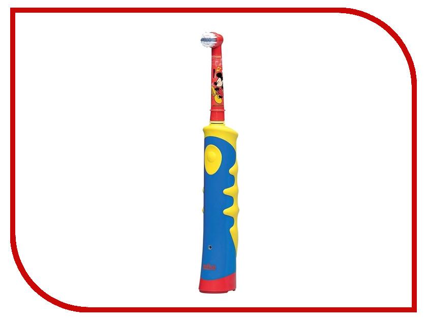 Зубная электрощетка Braun Oral-B Kids Mickey Mouse D10.513 / D10.513K зубная щетка braun oral b mickey kids желтый голубой