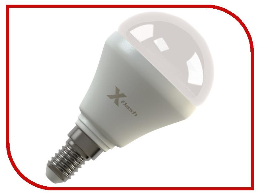 Лампочка X-flash Mini XF-BFM-E14-4W-3K-220V желтый свет, матовая 42548<br>