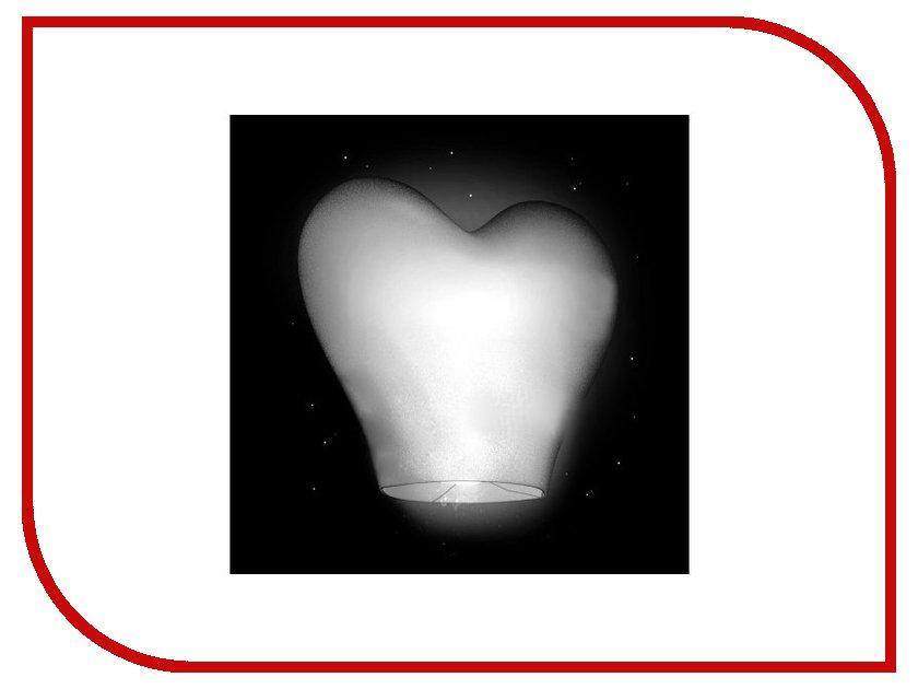 Небесный фонарик желаний Nebofon Сердце 2D White<br>