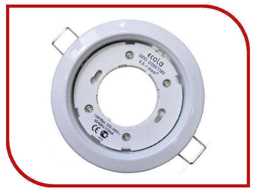 Светильник Ecola GX53 H4 220V White FW53H4ECB