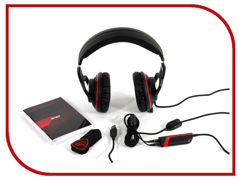 Гарнитура ASUS Orion Pro Black/Red клавиатура asus strix tactic pro cherry mx black black usb 90yh0081 b2ra00