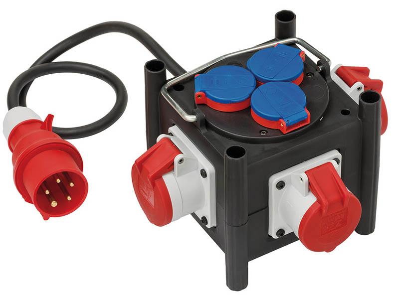 Удлинитель Brennenstuhl Compact Power Distributor CEE Plug - 3xCEE 400V Socket / 3x230v 1.0m 1153680100
