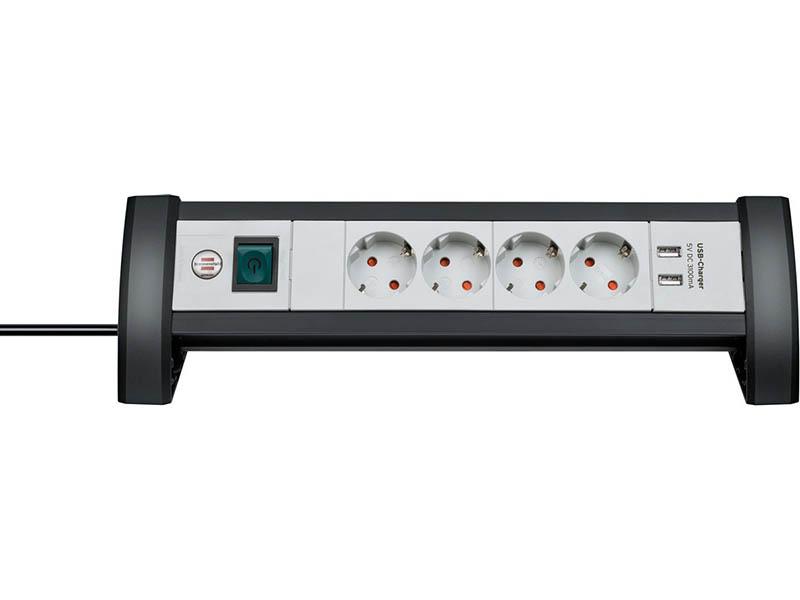 Удлинитель Brennenstuhl Premium-Office-Line 4 Sockets 2xUSB 1.8m 1156250534