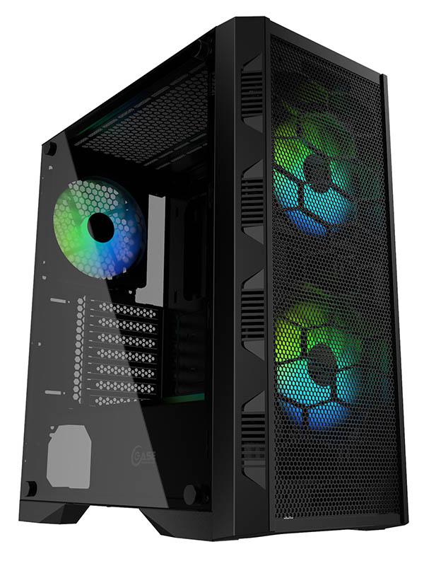 Корпус Powercase Mistral H3C Mesh Black CMIH3C-A3