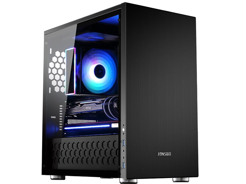 Корпус Jonsbo C3-Plus без БП Tempered Glass Black