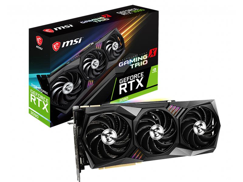 Видеокарта MSI GeForce RTX 3090 1395Mhz PCI-E 4.0 24576Mb 19500Mhz 384 bit 3xDP HDMI Gaming X Trio 24G