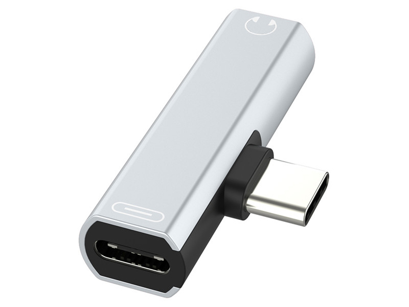 Аксессуар Greenconnect USB Type-C - Mini Jack 3.5mm + Silver GCR-52246
