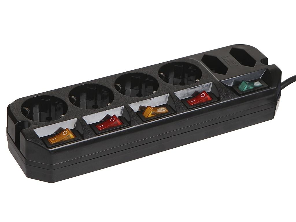 Удлинитель Most A10 6 Sockets 5m Black