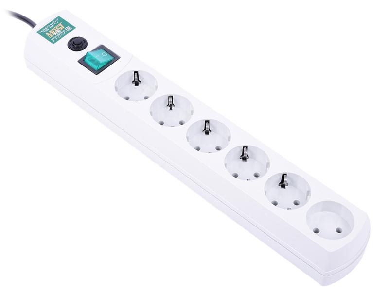 Сетевой фильтр Most RG 6 Sockets 3m White