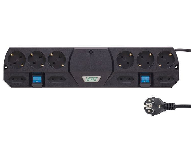 Сетевой фильтр Most TRG 10 Sockets 5m Black