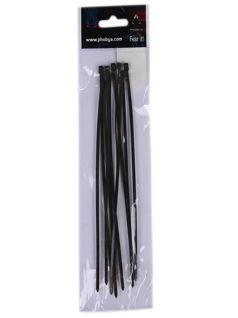 Стяжки Phobya Zip Tie 2.5x150mm 10шт Black 1011336