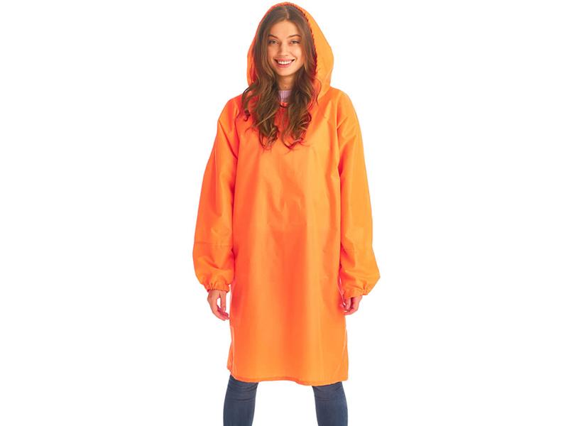 Плащ-дождевик детский Русский дождевик Артик рост 128-150cm Fluorescent Orange