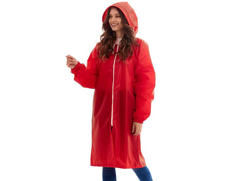 Плащ-дождевик детский Русский дождевик Ивент рост 134-150cm Red