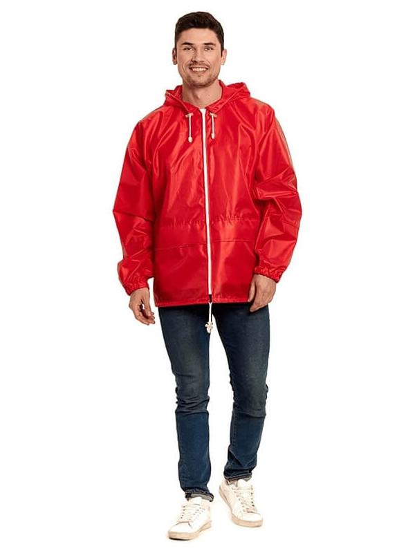 Куртка-ветровка Русский дождевик Лидер р.52-54 Red