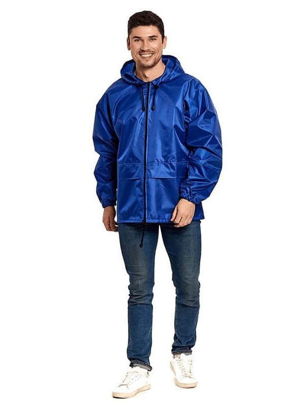 Куртка-ветровка Русский дождевик Лидер р.52-54 Blue