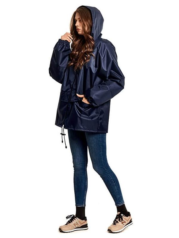 Куртка-ветровка Русский дождевик Лидер р.52-54 Dark Blue